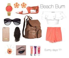 """""""Beach☀️"""" by madisonbanks on Polyvore featuring Alexander McQueen, Gucci, H&M, Vince Camuto, MICHAEL Michael Kors, Oasis, Kenneth Jay Lane, NOVICA and Maybelline"""
