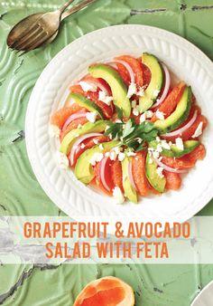 Grapefruit and avocado salad with feta | www.ricottaandradishes.com