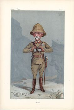 Vanity Fair Caricature of Field Marshal Lord Roberts. Colonial India, British Colonial Style, Vintage Safari, Vintage Travel, Picasa Web Albums, Fashion Night, African History, Military History, Victorian Era