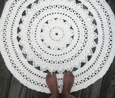 cotton crochet rug by Camille Designs