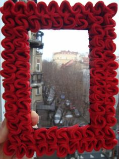 Red felt frame