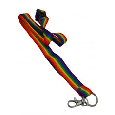 Rainbow lanyard long with hook and click lock - woven rainbow lanyard, approx. Pride Products, Rainbow Pride, Gay Pride, Other Accessories, Pride