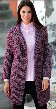 Items similar to Women crochet cardigan Chunky knit cardigan Crochet jacket Hand knitted sweater Oversize coat Knit cardigan women Fall knitted coat on Etsy Crochet Coat, Crochet Cardigan Pattern, Crochet Jacket, Knitted Coat, Sweater Knitting Patterns, Knitting Designs, Crochet Clothes, Knit Cardigan, Crochet Patterns