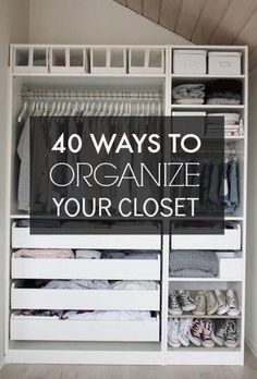 How to Organize a Small Closet Small closets Organizing and