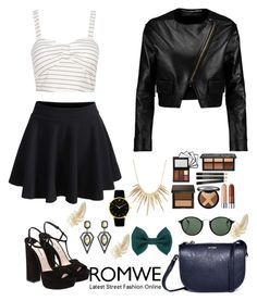 """""""Romwe 1"""" by amra-f ❤ liked on Polyvore featuring Miu Miu, Roland Mouret, Accessorize, Ray-Ban, Larsson & Jennings and Alexis Bittar"""