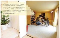 自分の家の床下に、広大なスペースがつくれます。そこは他の部屋と室温も同じで、空気もきれい。だから、大収納スペースとして使えるのはもちろん、オーディオルーム、図書室、お子様の遊び場所など、アイデア次第でいくらでも面白い使い方ができるのです。しかも、建築基準法の範囲内でつくるので固定資産税の対象外です!