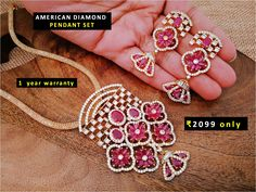 For orders , or product related queries please whatsapp 7773000215 (Please share product image you want to buy) Kids Jewelry, Jewelry Art, Jewelry Design, American Diamond Jewellery, Diamond Jewelry, Pendant Set, Diamond Pendant, Choice Fashion, Diamond Mangalsutra