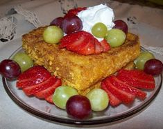 From the Blue Moon Cafe in Baltimore, Cap'n Crunch French Toast.  I've made this w/fresh whipped cream, strawberries and blueberries.  Delish!