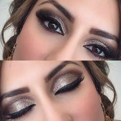 Idée Maquillage 2018 / 2019 : Goldish glittery brown make up look for weddings or prom or even for clubbing Pretty Makeup, Love Makeup, Makeup Inspo, Makeup Inspiration, Makeup Ideas, Simple Makeup, Easy Makeup, Makeup Style, Makeup Trends