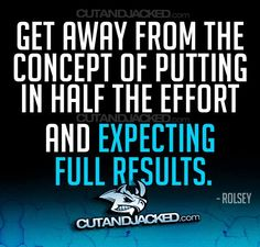 If you only give half the effort, don't expect to gain full results. I Work Out, Going To Work, Hard Work, You And Me Quotes, Train Insane Or Remain The Same, Health Motivation, Workout Motivation, Workout Quotes, Training Motivation