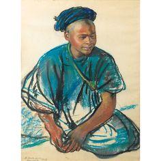 Zinaida-Evgenievna Serebriakova - Portrait de Jeune Marocain (1928) (pastel on paper)