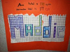 A fun way of teaching area and perimeter.