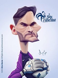 Hugo Lloris by Brice Mercier Cartoon People, Cartoon Faces, Funny Faces, Drawing Techniques Pencil, Colored Pencil Techniques, Celebrity Caricatures, Celebrity Drawings, Hugo Lloris, Caricature Drawing