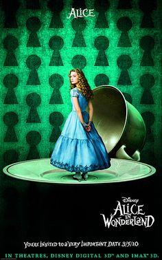 굳이 3D로 볼 필요는 없었던 영화. 조니 뎁보다는 헬레나 본햄 카터가 더 기억에 남는다. 2010년.