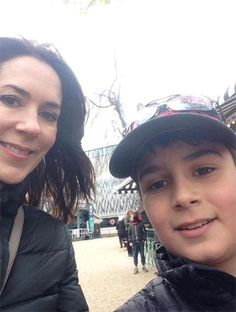 Her mum Crown Princess Mary posed for a selfie with a young fan