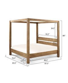 Ana White Build a Minimalist Rustic King Canopy Bed Free and Easy DIY Project and Furniture Plans Canopy Bed Frame, Diy Bed Frame, Diy Canopy, Bed Frames, Wood Canopy Bed, Canopy Beds, Patio Canopy, Wood Headboard, Canopy Bedroom