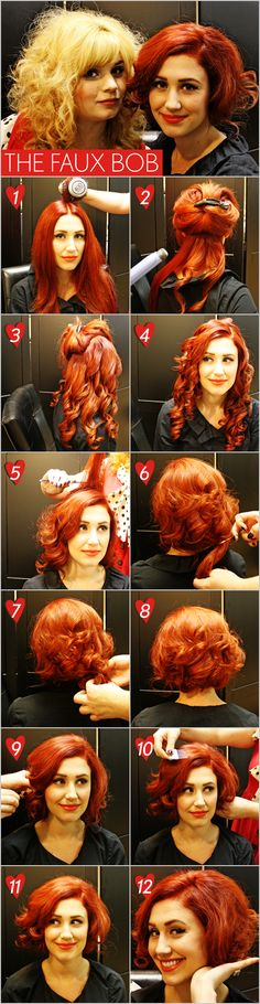 The faux bob! #tutorial #hair