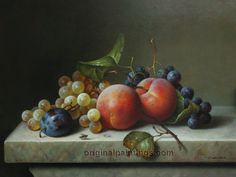 zoltan_preiner_still_life_with_peaches_plums_and_black_and_white_grapes.jpg (2728×2046)