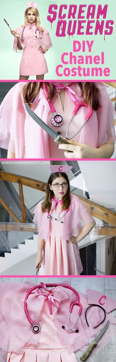 DIY Chanel from Scream Queens Halloween Costume ~ Karen Kavett @karenkavett