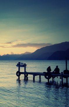Sunset at Lake Atitlan in Guatemala Beautiful Sunset, Beautiful Places, Beautiful Moments, Beautiful Life, Lovely Things, Amazing Places, Jungle Life, Lake Atitlan, Lakeside Cottage