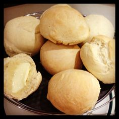 Home baked bread rolls
