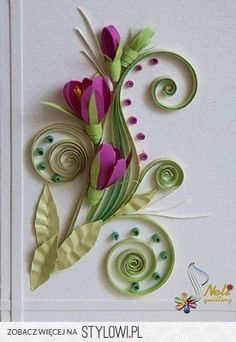 quilling - floral na Stylowi.pl