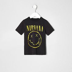 Mini boys grey nirvana print T-shirt