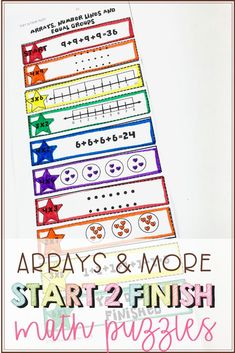 Help your students practice various multiplication strategies such as creating arrays, number lines, or even equal grouping. These math puzzles are meant to engage your students while they get the extra practice they need! Math Fact Fluency, Multiplication Strategies, Math Fractions, Upper Elementary Resources, Elementary Math, Teaching Writing, Teaching Tips, Math Graphic Organizers, Teacher Lesson Plans