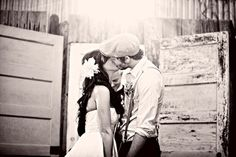 #kiss Photography by www.threenailsphotography.com  Read more - http://www.stylemepretty.com/2011/02/08/vintage-wedding-by-three-nails-photography/