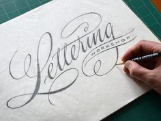 Lettering Workshop by Ken Barber #lettering #handlettering #typography