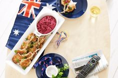 Macadamia crumbed lamb cutlets with beetroot dip - Cheer for the green and gold with this classic Australian recipe.