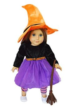 My Brittany's Spider Witch Halloween Costume for American Girl Dolls Witch Costumes American Girl Doll Costumes, American Doll Clothes, Girl Doll Clothes, Girl Dolls, American Dolls, Dolls Dolls, Spider Halloween Costume, Witch Costumes, Halloween Tricks