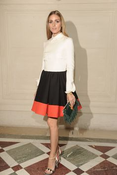 Olivia Palermo at the Haute Couture Fall/Winter 2014-15 show in Paris, the 9th of July 2014