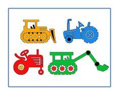 Bulldozer Tractor Boys Room Art  8 x 10 Photo by DelightfulTrifles