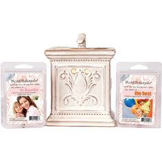 ScentSationals Mothers Day Combo: Crown Pearl Full-Size Warmer with So Beautiful and The Best Wax