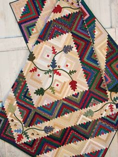Quilting - Bed Quilt Patterns - Log Cabin Quilt Patterns - Cabin in the Oaks