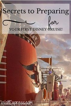 Secrets to preparing for your first Disney Cruise! disney cruise, crusing with disney #disney #cruise #cruising