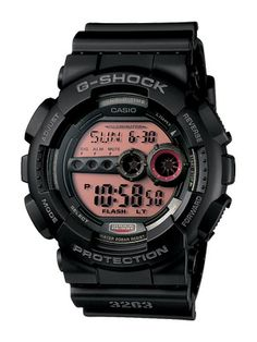 Casio G-Shock: Extra Large Series Men Watch 200m WR Multi Time # GD-100MS-1 (Feb 2011). Please visit us at the following URL: http://www.bodying.com/casio-g-shock-extra-large-gd-100ms-1/watches/24170