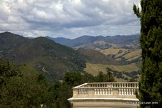 Breathtaking balcony views overlooking the Hearst property--acres and acres of land!