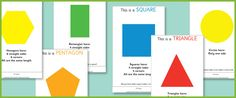 2D Shape Info Posters (eyfs maths resources) | Free EYFS / KS1 Resources for Teachers