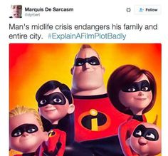 Risultati immagini per The Incredibles disney foto Funny Shit, The Funny, Hilarious, Funny Stuff, Disney Movie Characters, Disney Movies, Movie Plots Explained Badly, Funny Tweets, Funny Memes