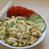 Crab Fried Rice from Khong River House in Miami    Can't wait to try this with big chunks of crab.