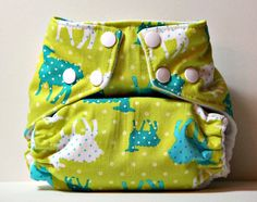 Counting Sheep One Size Cloth Diaper by CatandWolfDesigns on Etsy, $22.00