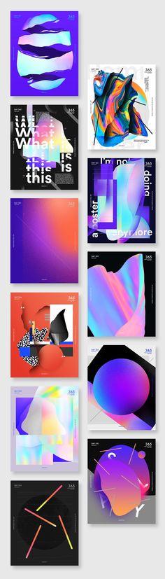 Diseño gráfico: Baugasm 365 Poster