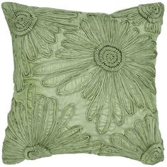 """Rizzy Green 18"""""""" x 18"""""""" Throw Pillow ($20) ❤ liked on Polyvore featuring home, home decor, throw pillows, green, green home accessories, green home decor, green throw pillows, rizzy home and green toss pillows"""