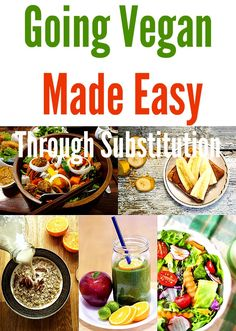 Going Vegan Made Easy Through Substitution. For those of you who are interested