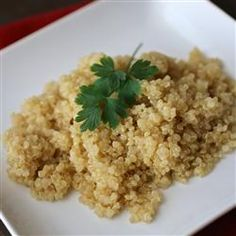 Garlic Quinoa - this recipe has more garlic, in addition I am adding about a 1/2 c of diced leek in with the garlic as it sautes.