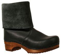 sanita 'alison' roll-top clog boots.
