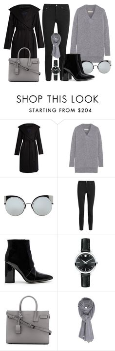 """""""Sem título #3429"""" by beatrizvilar on Polyvore featuring moda, The Row, Chinti and Parker, Fendi, Acne Studios, Sigerson Morrison, Movado, Yves Saint Laurent e Care By Me"""