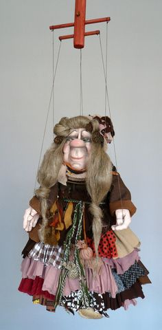 Original hand-made marionette, Czech puppet Shop, Witch Berta